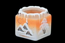 CUBE FOR CANDLE - ORANGE COLOR