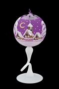 BALL FOR CANDLE ON STAND - VIOLET COLOR